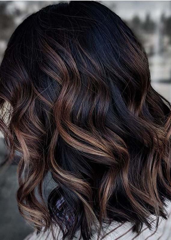 Modern Dark Balayage Hair Color Ideas for Women in 2021