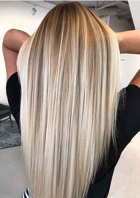 Awesome Sleek Straight Hairstyles with Balayage Highlights in 2020
