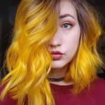 Yellow Hair Color Shades with Dark Roots to Show Off in 2020