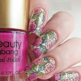 24 Beautiful Rose Stamping Nail Designs for 2021