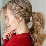 35 Charming Four Strand Braid Ponytails To Show off in 2021