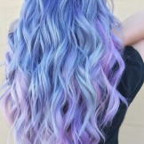 47 Gorgeous Icy Blue, Lavender and Pink Hair Color Ideas in 2021