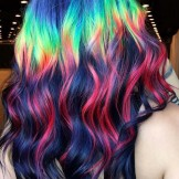 47 Incredible Rainbow Hair Color Ideas for 2021