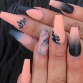 30 Trending Orange Blended Nail Art Designs for 2021