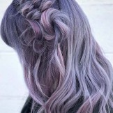 43 Smokey Purple Braid Styles for Long Hair Women in 2021