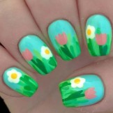 35 Easy Summer Flower Nail Art Designs in 2021