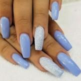 15 Beautiful Blue Glitter Nail Art Designs for 2021