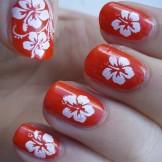 46 Cute Flower Nail Art Designs for Women 2018