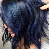 34 Awesome Deep Blue Hair Color Ideas for 2021