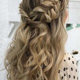 44 Elegant Half Up Fishtail Hairstyles Trends for 2021