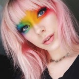 44 Fabulous Pink Hair Colors & Haircuts with Bangs 2018
