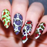 55 Stylish Fruit Stamping Nail Designs to Show Off in 2021