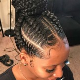 44 Gorgeous Braided Bun Hair Looks 2018 for Black Women