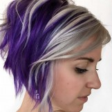 31 Adorable Stacked Bob Purple Haircuts for 2021