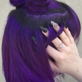 28 Charming Dark Purple Hair Colors & Haircuts in 2021