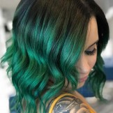 52 Gorgeous Green Ombre Hair Color Trends for 2021