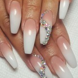 48 Best Pink White Long Nail Arts & Designs in 2021