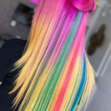 60 Stunning Rainbow Hair Color Looks to Try in 2021