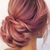 Gorgeous Pink Lemonade Updo Hairstyles to Try in 2021
