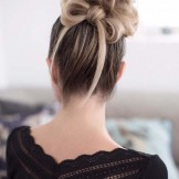 Prettiest High Messy Bun Styles for Women 2018