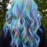 Amazing Rainbow Hair Color Shades & Highlights in 2021