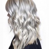 Gorgeous Silver Tones for Long Curls in Year 2018