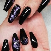 Fantastic Black Nail Art Designs for Women in 2021