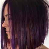 Gorgeous Dark Magenta Hair Colors for bob Haircuts in 2021