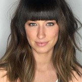 Stunning Medium Hairstyles with Blunt Bangs for 2021