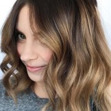 Amazing Caramel Balayage on Dark Brown Hair in 2021