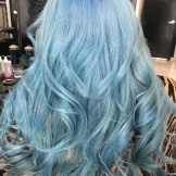 Fantastic Baby Blue Hair Colors for Long Waves Looks in 2021