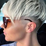 Unique Platinum Blonde Undercut Pixie Haircuts for 2021