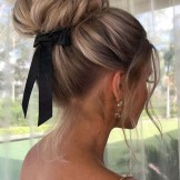 Stylish Bun Styles with Balayage Colors for Women in 2021