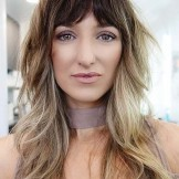 Gorgeous Long Shag Foilayage Hairstyles with Bangs for 2021