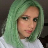 Obsessing Pastel Green Bob Haircut Styles for Women 2019