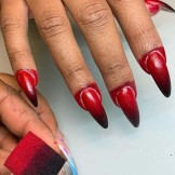 Red Ombre Nail Arts Designs for Women to Show Off in 2021