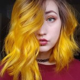 Unique Yellow Hair Color Shades with Dark Roots to Show Off in 2021